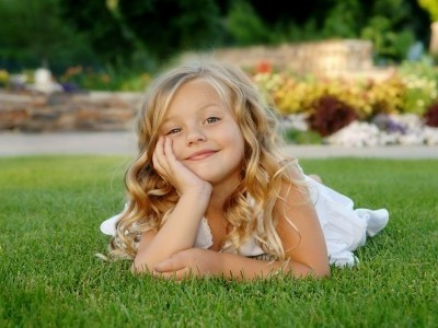 Little-girl-on-grass